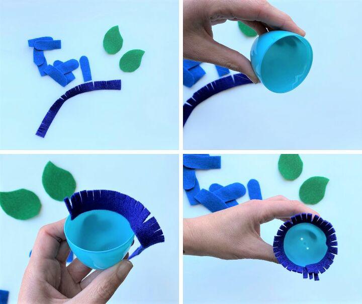 easy plastic egg flowers