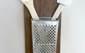 Repurposed Vintage Cheese Grater Organizer