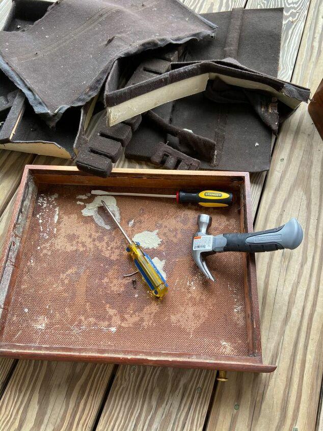 trash to treasure how i re purposed an old silverware box