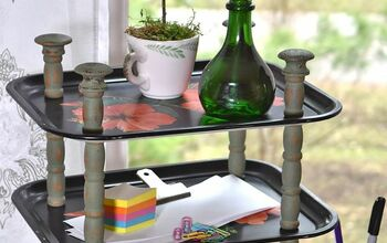 Vintage Metal Tray Tiered Stand