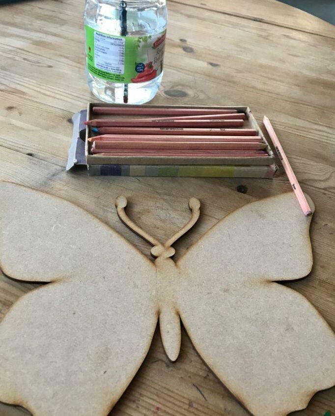 Laser cut wooden butterfly