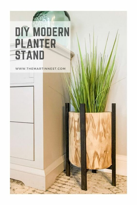 diy modern planter stand from scrap wood