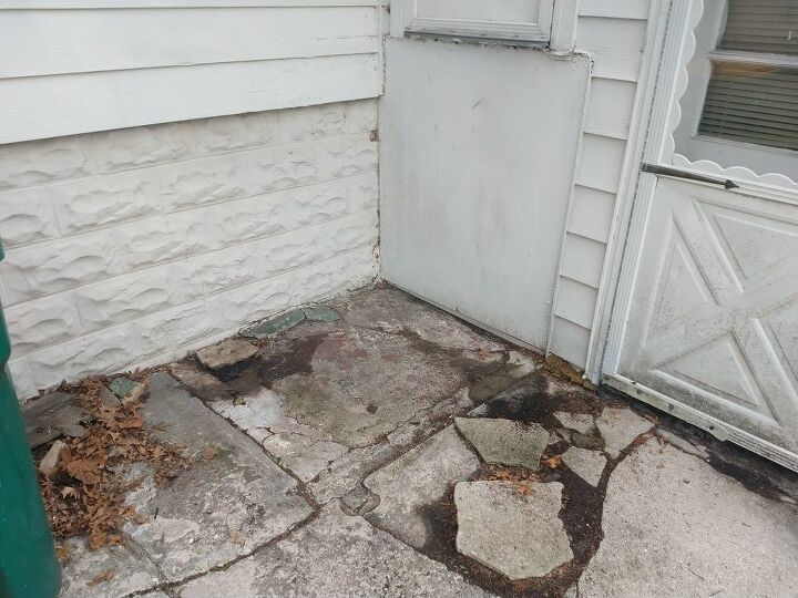 q concrete pad repair for exterior steps and landing