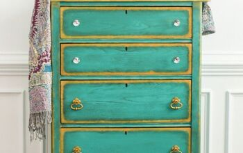 Glam Turquoise + Gold Dresser