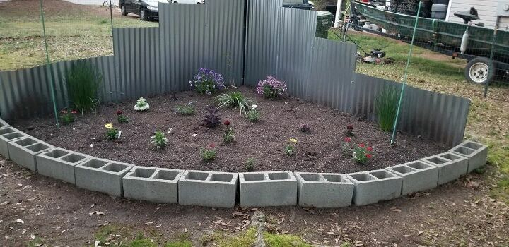 triangle flower bed