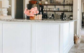 Kitchen Peninsula Builder Grade to Custom Made