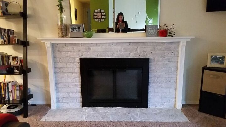 budget friendly fireplace update