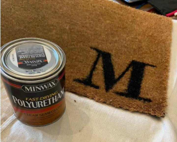 quick and simple coir doormat refresh