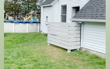 Garbage Can Area Privacy Fence
