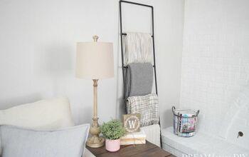 Easy DIY Modern Blanket Ladder