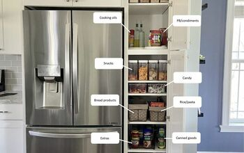 Deep Narrow Pantry Organization