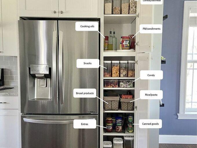 deep narrow pantry organization