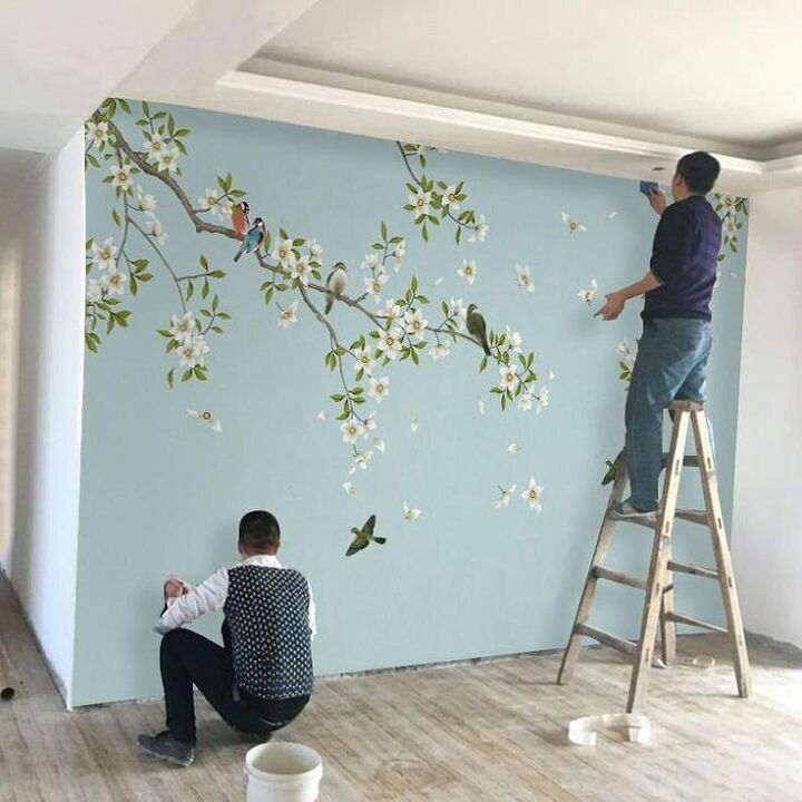 chinoiserie inspired headboard