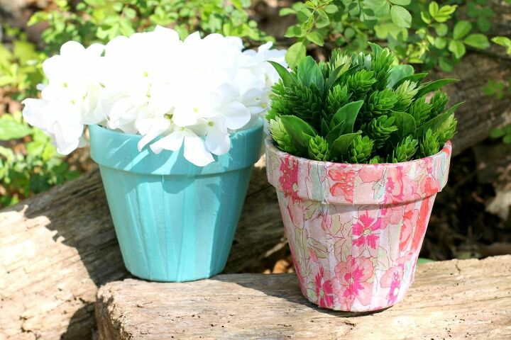 mother s day decoupage flower pot