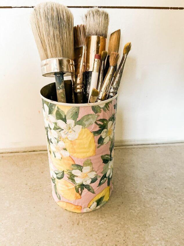 recycle tin cans into a gorgeous spring center piece