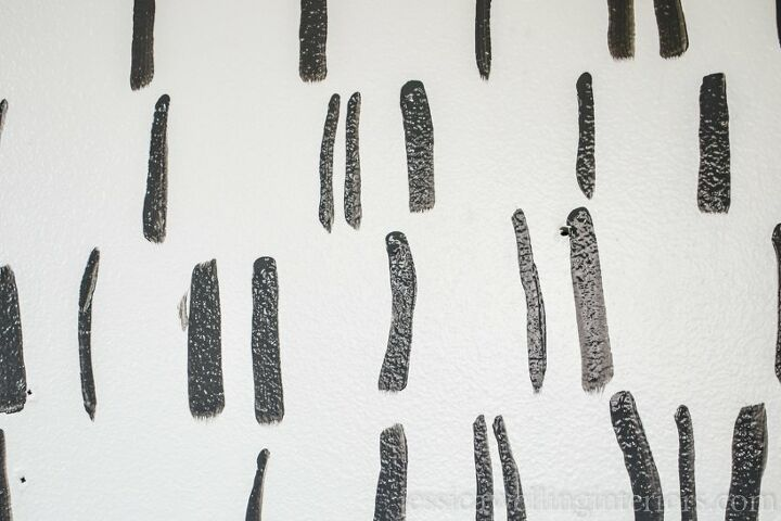 ultra easy paint strokes accent wall