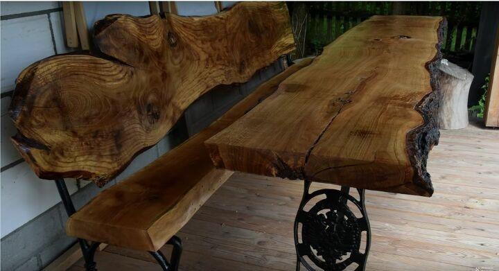 DIY Live Edge Wood Table