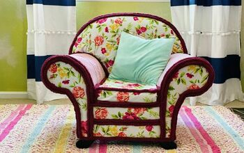 DIY No Sew Upholstered Chair Makeover