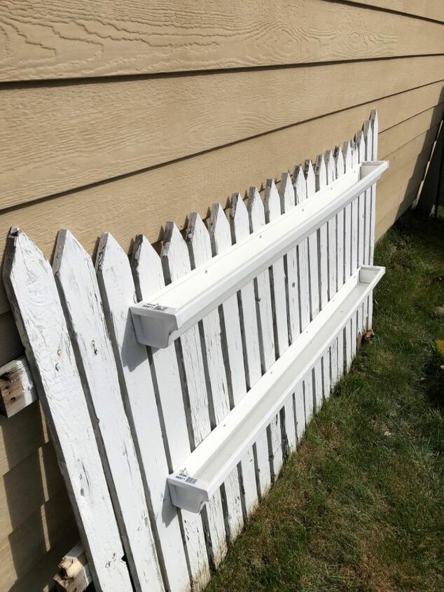 upcycled picket fence container garden