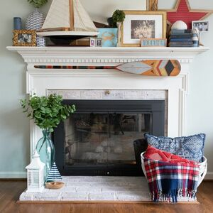 Brick Fireplace Upgrade