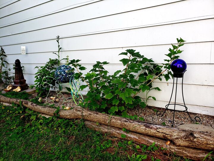 s 13 gorgeous garden edging ideas to try out this season, Use logs to make a wall trellis
