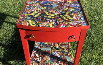 DIY Superhero Comic Side Table Makeover