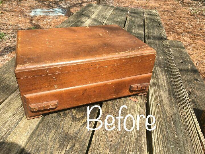 silverware box repurposed