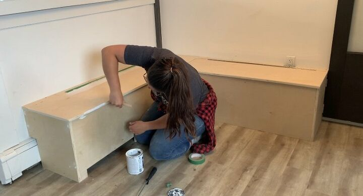 diy how to build a kitchen nook