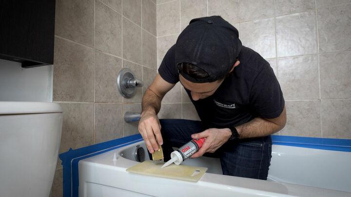 fix moldy silicon shower caulking get perfect caulking lines