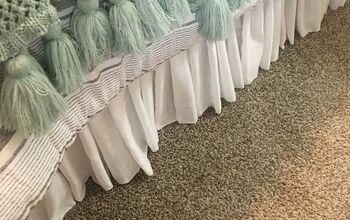 Easy DIY Bedskirt for Adjustable Base Bed