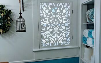 DIY Doves Bathroom Window Transformation