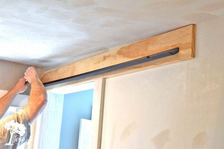 barn door sliding door with a vintage door low ceilings