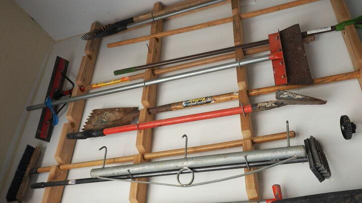 garden tool organizer for garage