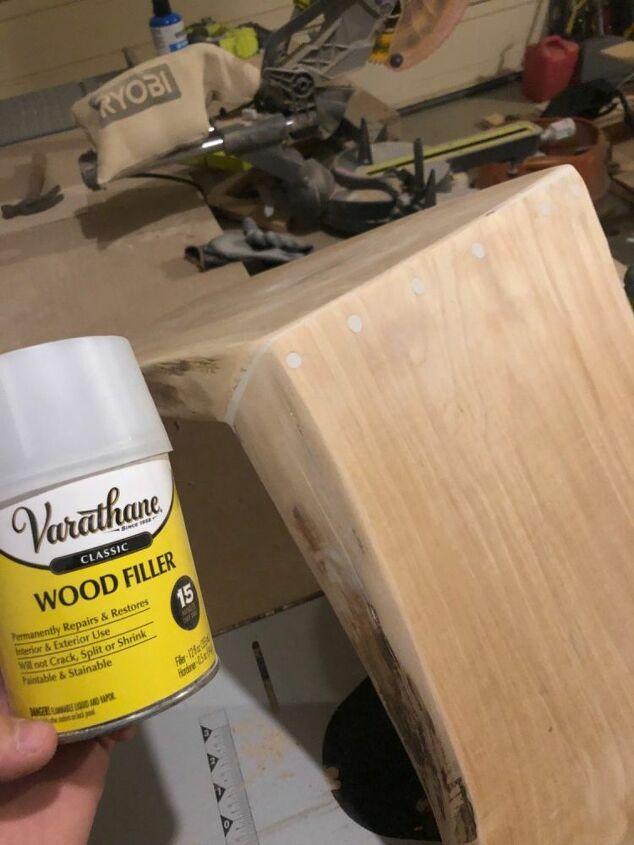 scrap wood accent table