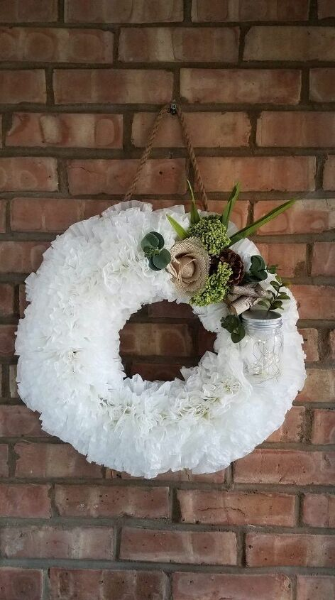 coffee filter spring wreath