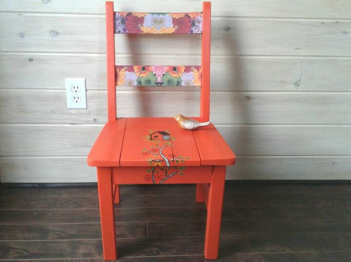 an old school chair gets revived for spring