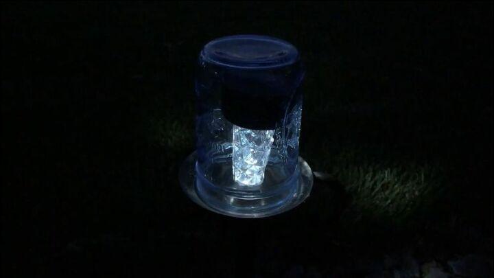 mason jar solar light sidewalk
