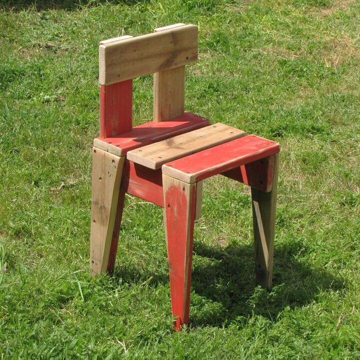 how to make a kids chair from old wood
