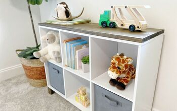 Turn a Cheap Cube Storage Shelf Into a Piece of Furniture!