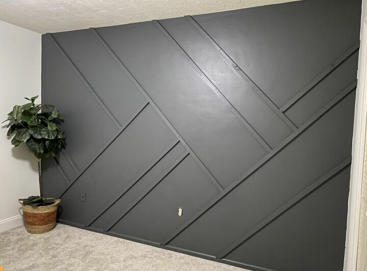 geometric accent wall