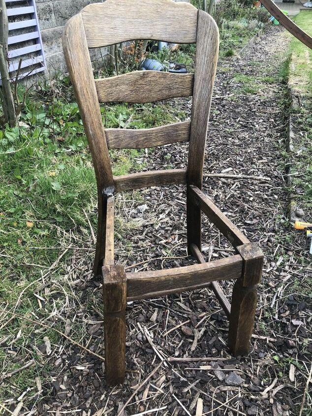 diy succulent chair planter