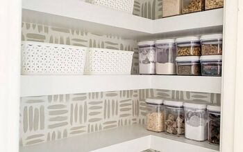 Built in Floating Pantry Shelves