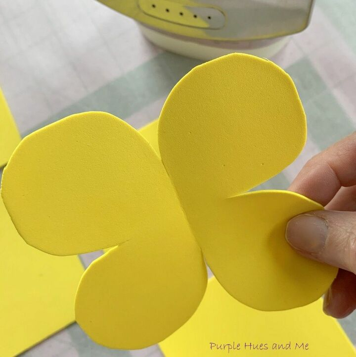 sunshine yellow foam flowers diy