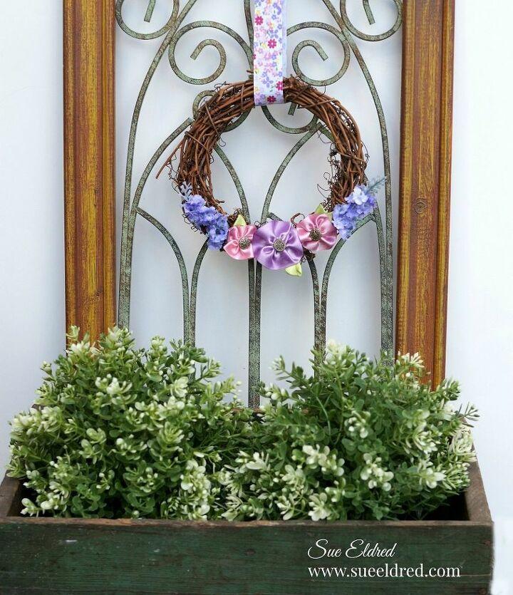 spring ribbon flower wreath