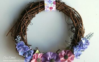 Spring Ribbon Flower Wreath