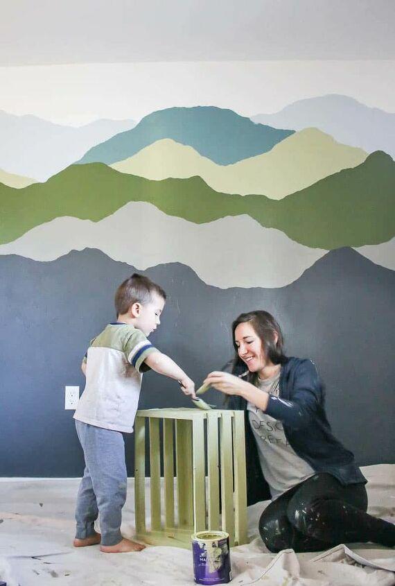 mountain mural tutorial