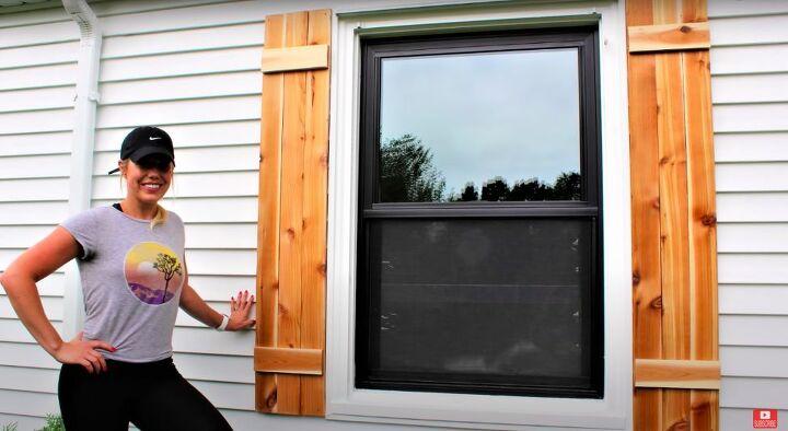 DIY Cedar Shutters
