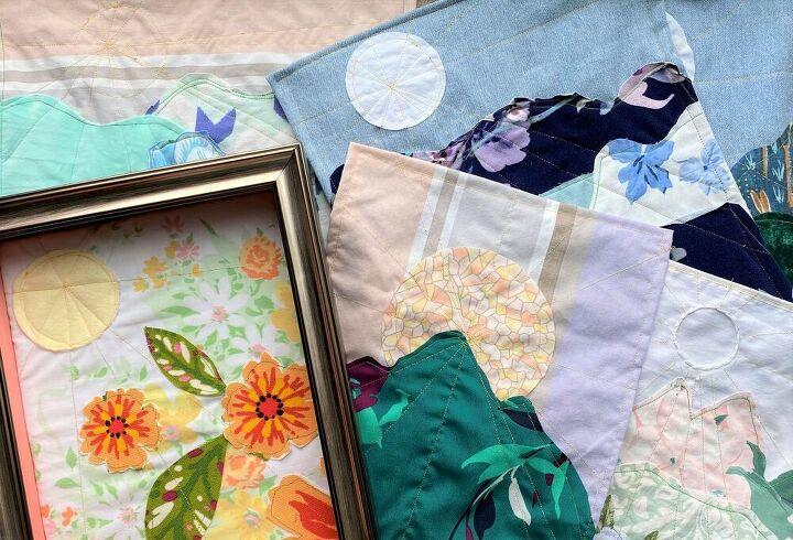 mini scrap fabric tapestries