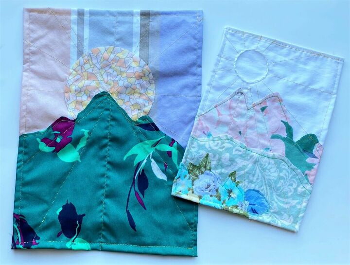 mini scrap fabric tapestries