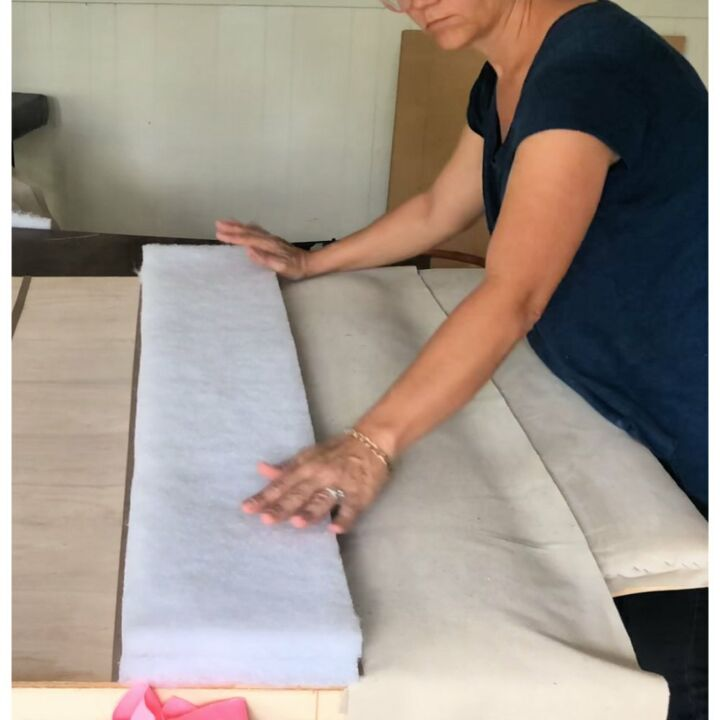diy upholstered channel tufted headboard
